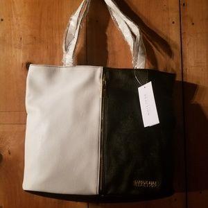 Kenneth Cole Reaction black & white handbag.
